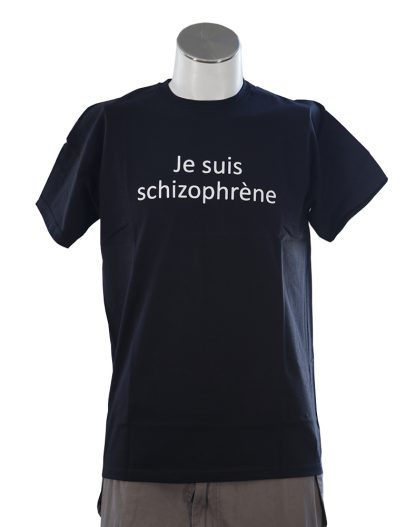 t-shirt je suis schizophrene