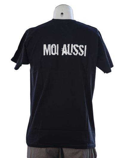 t-shirt je suis schizophrene noir arriere